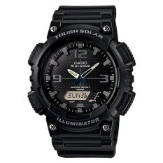Casio Analog Digital Tough Solar Men S Black Resin Strap Watch Aqs810W 1A2 Casio Discount