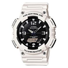Buy Casio Men S Analog Digital Tough Solar White Resin Strap Watch Aqs810Wc 7A Aq S810Wc 7A Casio Cheap