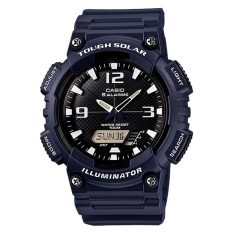 Retail Casio Men S Analog Digital Tough Solar Blue Resin Strap Watch Aqs810W 2A2 Aq S810W 2A2