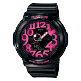 Sale Casio Baby G Neon Illumination Dial Black Resin Band Watch Bga130 1B Bga 130 1B Casio Baby G
