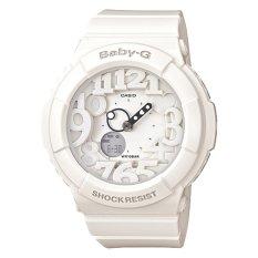 Low Cost Casio Baby G Neon Illumination Dial White Resin Band Watch Bga131 7B Bga 131 7B