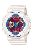 Casio Baby G Women S White Resin Strap Watch Ba 112 7A Lowest Price