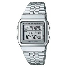 Casio Men S Standard Digital Silver Stainless Steel Band Watch A500Wa 7D Lowest Price