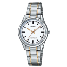 Retail Price Casio Ladies Standard Analog Two Tone Stainless Steel Band Watch Ltpv005Sg 7A Ltp V005Sg 7A