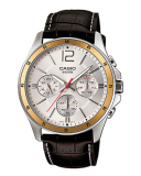 Casio Men S Standard Analog Brown Leather Strap Watch Mtp1374L 7A Mtp 1374L 7A In Stock