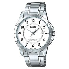 Review Casio Men S Standard Analog Silver Stainless Steel Band Watch Mtpv004D 7B Mtp V004D 7B Casio On Singapore