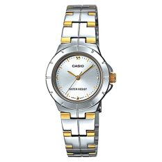 Sale Casio Ladies Standard Analog Two Tone Stainless Steel Band Watch Ltp1242Sg 7C Ltp 1242Sg 7C Singapore Cheap