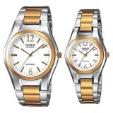 Buy Casio Couple S Gold Plated Stainless Steel Strap Watches Mtp Ltp 1253Sg 7A Cheap On Singapore