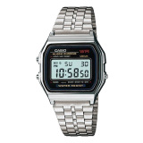 Price Compare Casio Standard Digital Silver Stainless Steel Band Watch A159Wa N1