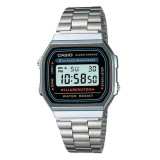 Sale Casio Ladies Standard Digital Silver Stainless Steel Band Watch A168Wa 1U On Singapore