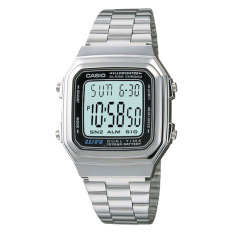 Price Comparison For Casio Ladies Standard Digital Silver Stainless Steel Band Watch A178Wa 1A