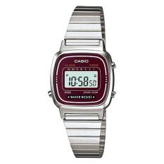 Best Price Casio Ladies Standard Digital Silver Stainless Steel Band Watch La670Wa 4D La 670Wa 4D