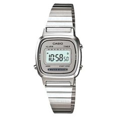 Discount Casio Ladies Standard Digital Silver Stainless Steel Band Watch La670Wa 7D La 670Wa 7D