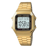 Coupon Casio Digital Women S Gold Stainless Steel Strap Watch A178Wga 1A
