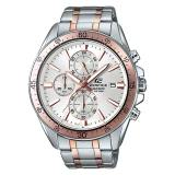 Lowest Price Casio Edifice Chronograph Men S Silver Rose Gold Stainless Steel Strap Watch Efr546Sg 7A
