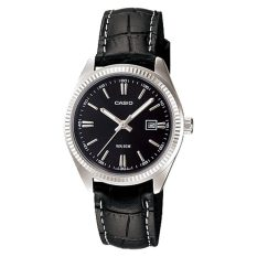 Where Can I Buy Casio Fashion Ladies Black Leather Strap Watch Ltp1302L 1A