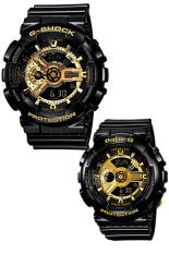 Sale Casio G Shock And Baby G Couple Black Resin Strap Watches Ga 110Gb 1A Ba 110 1A