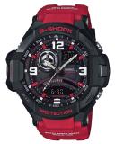 Promo Casio G Shock Gravitymaster Twin Sensor Red Resin Strap Watch Ga1000 4B Ga 1000 4B