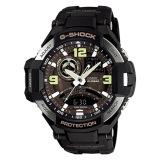 Discount Casio G Shock Twin Sensor Compass Aviator Watch Ga1000 1B Casio G Shock On Singapore