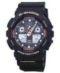 Best Rated Casio G Shock Velocity Indicator Alarm Ga 100 1A4 Ga 100 Rubber Strap Watch