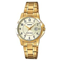 Deals For Casio Ladies Analog Stainless Steel Strap Watch Ltpv004G 9B