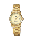 Price Compare Casio Ladies Gold Stainless Steel Strap Watch Ltp V002G 9A