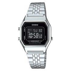 Casio Ladies Standard Digital Silver Stainless Steel Band Watch La680Wa 1B La 680Wa 1B Discount Code