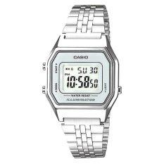 Store Casio Ladies Standard Digital Silver Stainless Steel Band Watch La680Wa 7D La 680Wa 7D Casio On Singapore