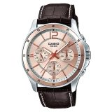 Review Casio Men S Standard Analog Brown Leather Strap Watch Mtp1374L 9A Mtp 1374L 9A Casio