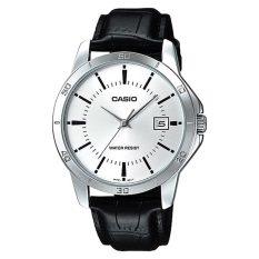 For Sale Casio Men S Black Leather Strap Watch Mtpv004L 7A