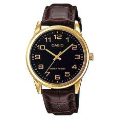 Casio Men S Standard Analog Brown Leather Strap Watch Mtpv001Gl 1B Mtp V001Gl 1B Reviews