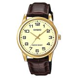 Casio Men S Standard Analog Brown Leather Strap Watch Mtpv001Gl 9B Mtp V001Gl 9B Shopping