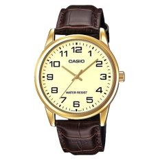 Sale Casio Men S Standard Analog Brown Leather Strap Watch Mtpv001Gl 9B Mtp V001Gl 9B Online On Singapore