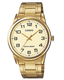 How Do I Get Casio Men S Gold Stainless Steel Strap Watch Mtpv001G 9B