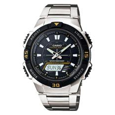 Coupon Casio Solar Powered Analog Digital Silver Stainless Steel Band Watch Aqs800Wd 1E Aq S800Wd 1E