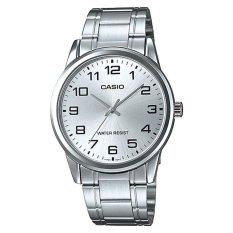 Casio Mens Standard Analog Silver Stainless Steel Band Watch Mtpv001d-7b Mtp-V001d-7b By Watchspree.