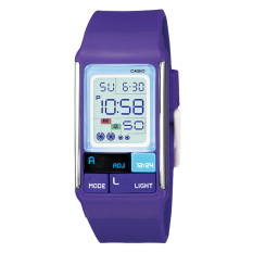 Sale Casio Poptone Series Ladies Purple Resin Band Watch Ldf52 6A Ldf 52 6A