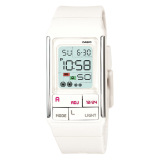 Get Cheap Casio Poptone Series Ladies White Resin Band Watch Ldf52 7A Ldf 52 7A