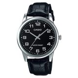 Best Rated Casio Standard Analog Men S Black Leather Strap Watch Mtpv001L 1B