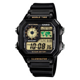 Casio Standard Digital Men S Black Resin Strap Watch Ae1200Wh 1B In Stock