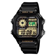 Casio Standard Digital Men S Black Resin Strap Watch Ae1200Wh 1B Price Comparison