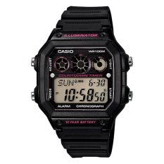 Compare Prices For Casio Standard Digital Men S Black Resin Strap Watch Ae1300Wh 1A2