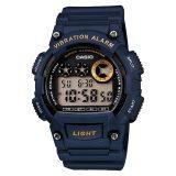 Buy Casio Men S Standard Digital Blue Resin Band Watch W735H 2A W 735H 2A On Singapore