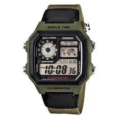 Coupon Casio Men S Standard Digital Green Resin Band Watch Ae1200Whb 3B Ae 1200Whb 3B
