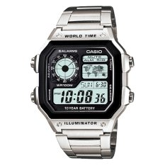 [best] Casio Mens Standard Digital Silver Stainless Steel Watch Ae1200whd-1a Ae-1200whd-1a By Watchspree.