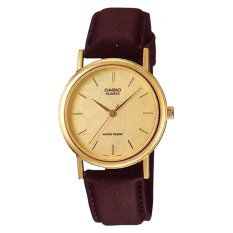 How To Buy Casio Men S Standard Analog Brown Leather Strap Watch Mtp1095Q 9A Mtp 1095Q 9A