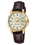 Best Rated Casio Ladies Standard Analog Brown Leather Strap Watch Ltpv004Gl 9A Ltp V004Gl 9A