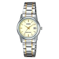 Sale Casio Ladies Standard Analog Two Tone Stainless Steel Band Watch Ltpv002Sg 9A Ltp V002Sg 9A Casio Branded