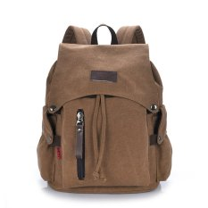 Cheap Casual Backpack Women Canvas Bag Backpack Travel Bag Brown Intl Online