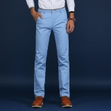 Discount Casual Business Men Straight Cotton Pant Slim Male Trousers Intl